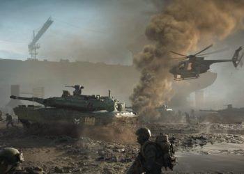 Танки и солдаты тащатся по грязи в Battlefield 2042