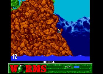 Компьютерная игра стрелялка Worms. Черви против ветра